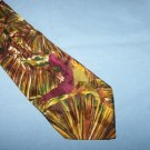 Brown Swirly Shiny Character Silk Tie Necktie