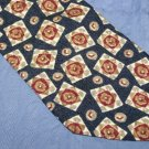 Renzo Caldi Silk Tie Navy Blue Background