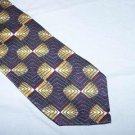 Texas Clothier Dark Burgundy Blue Silk Tie Necktie