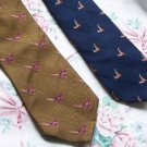 Lot of 2 Pheasant Animal Ties Neckties  W104