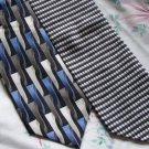 Lot of 2 DiMoggio Gray Black Bold Ties Neckties  W110