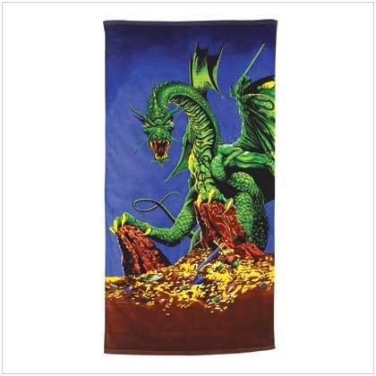 #37859 Dragon Design Beach Towel