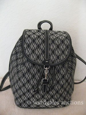 Black/White XOXO Backpack Handbag