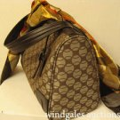 Lacoste Satchel Brown/Tan Logo Print Handbag
