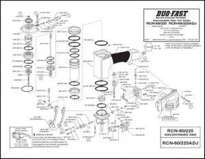 Duo-Fast Coil Nailer RCN 60/225 O ring Rebuild Kit Part