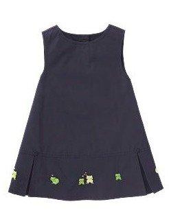 GYMBOREE baby girl PUDDLE JUMPING frog JUMPER DRESS 12-18m