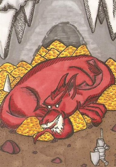 Red Dragon ACEO sketch card atc