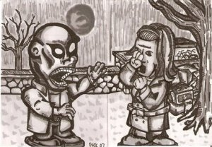 aceo sketch card set of Night of the Living Dead