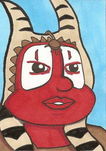 Star Wars sketch Cards ATC ACEO Shaak Ti Jedi