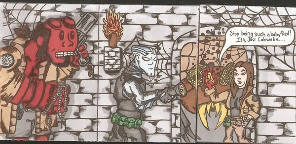 Hellboy and the BPRD color print Sketch Card Set ATC ACEO