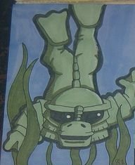 Creature from the Black Lagoon sketch card atc aceo