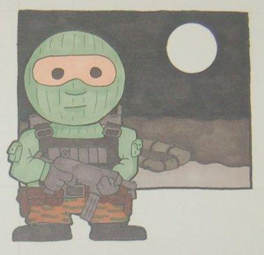 G.I. Joe Beach Head sketch card