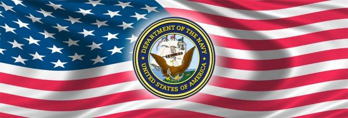 UNITED STATES NAVY & USA FLAG