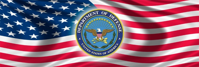 UNITED STATES DEPARTMENT OF DEFENSE DOD & USA FLAG