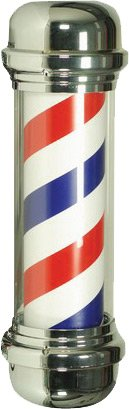STATIC CLING BARBER POLE DECAL 10""