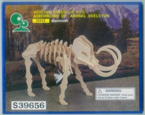 Mammoth Wooden Dinosaur Skeleton Craft Kit Wood Puzzle