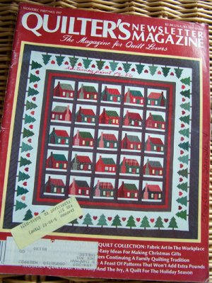 Quilter's Newsletter Nov-Dec 1987 Thanksgiving, Christmas, Miniature quilts -patterns, techniques
