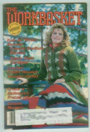 Workbasket October 1985 Needlework, Sewing, Quilting, Crafts, Foods, Gardening