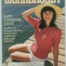 Workbasket August 1989 Knit, Crochet, Tat, Cross Stitch, Needlepoint, Crafts, Foods, Gardening