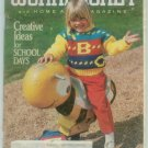 Workbasket September 1989 Back to School: Knit, Crochet, Tat, Stitchery, Crafts, Foods