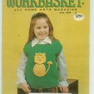 Workbasket June 1974 Knit, Crochet, Tat, Crafts, Foods, Gardening