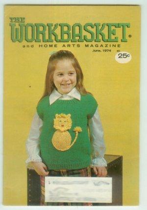 Workbasket June 1974 Knit, Crochet, Tat, Crafts, Foods, Gardening