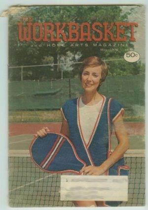 Workbasket May 1976 Crochet, Knit, Tat, Sew, Crafts, Foods, Gardening