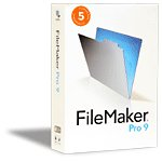 FileMaker Pro 9.0 Full 5-User License and CD for Win or Mac or Linux