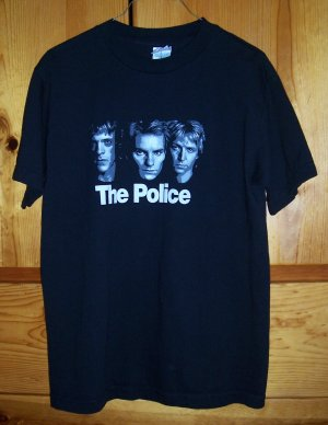 SALE! THE POLICE 2007 Tour T-Shirt Black Size Medium M FREE SHIPPING!!!