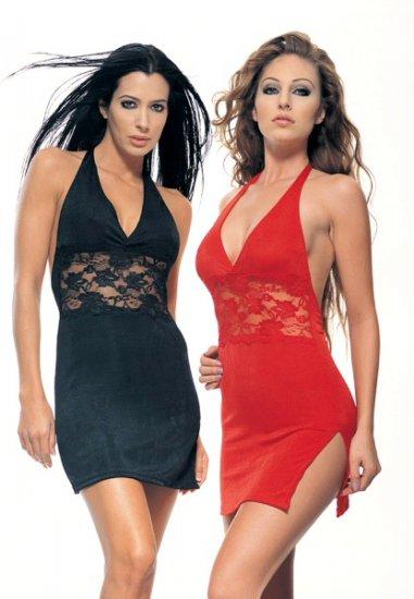 Silky Halter Dress -Plus Size