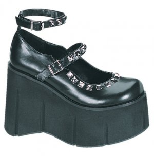 Womens Pyramid Stud Wedge Platform