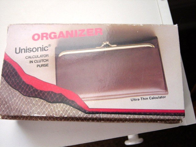 Unisonic Organizer Calculator in Clutch Purse Billfold #900020