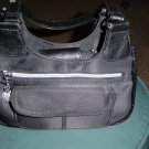 Women's Black Handbag Silver Decorations #900022