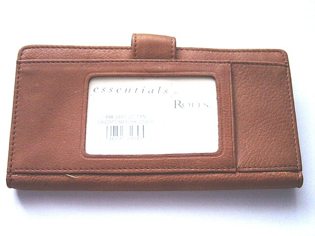 Rolfs  Essentials Leather Credit Card Check Cover #900034