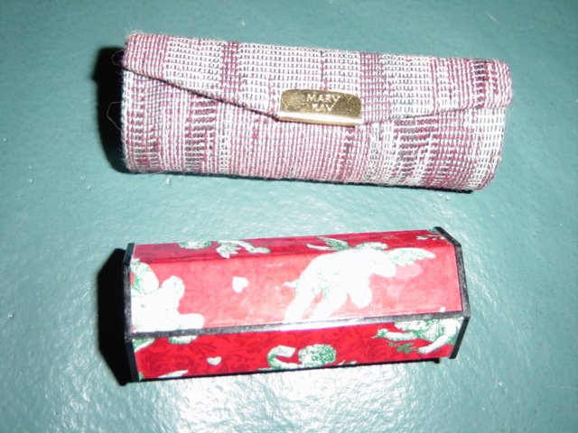 Set of Two Purse Lipstick Holders Tapestry and Angels #900038