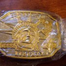 100 Years of Liberty Goldtone Belt Buckle NIP #900047