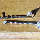 Pair of Silver Hair Pins Rhinestone Flowers #900077