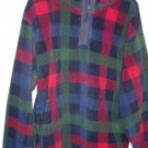 Woman's VanHeusen Denim Classics Plaid Fleece Top Size L #900186
