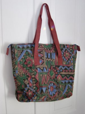 Large Canvas Tote Bag in Floral Pattern #900187