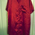 Woman&#39;s Summer Red Thigh Length Nightgown Size L #900240
