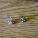 Pair of Silver Tone Watering Can Dangle Earrings #900280