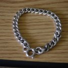 Silver Tone Single Link Charm Bracelet 6 1/4&quot;  Germany  #900323