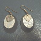 Pair of Gold Tone Black Gold and Pewter Dangle Earrings  #900329