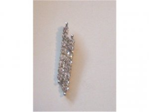 Beautiful Rhinestone Covered Vertical Pendant #900336