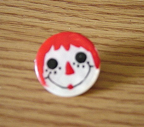 Hand Painted Raggedy Anne Brooch  #900354