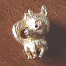 Gold Tone Small Chihuahua Pomeranian Dog Brooch ##900415