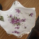 Mint Victorian Violets from England&#39;s Countryside Spode Bone China Trinket Tray Dish #900432