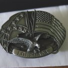 1988 Siskiyou State of Louisiana Brass or Pewter Belt Buckle #900482