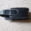 Black Leather or Vinyl Cell Phone Holder Magnetic Closure Belt Hook #900493