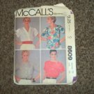 McCall's 8609 Misses' Shirt Top Pattern Size 20  #900535